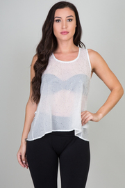 Floral Sheer Racer-back Tank
