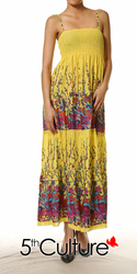 Floral Smocked Tiered Maxi Dress