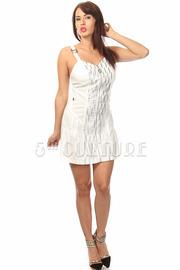 Glitter Print Zipper Dress