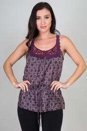 Printed Crochet Tank