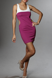 Solid Sheath Mini Cut-Out Dress