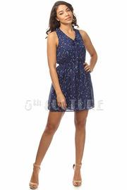 Collar Tie Mini Dress