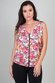 Multi Color Short Sleeve Top