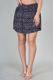 Abstract Bow Front Skirt