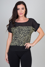 SS Print Solid Trim Top
