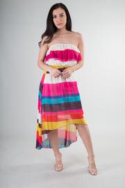 Striped Hi Low Dress