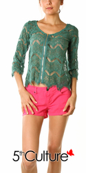 LS Crochet Fringe Top