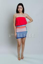 Bubble Striped Mini Dress