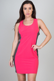 Sleeveless Two Tone Mini Dress