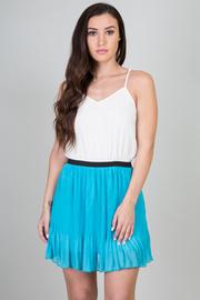 Pleated Elastic Waistband Dress