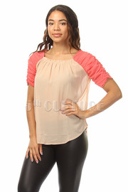 Ruched Arm Top