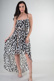 High Low Print Dress