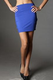 Solid Cotton Mini Skirt