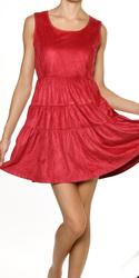 Suede A-Line Dress