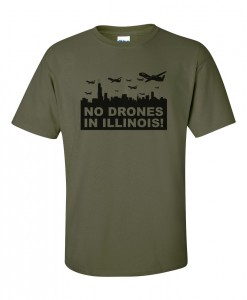 no-drones-in-illinois-t-shirt