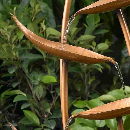 copper cascade water feature
