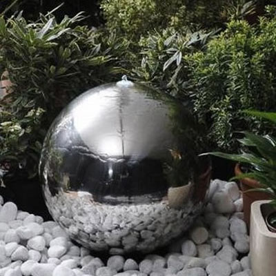 50cm stainless steel sphere water feature