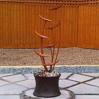 Autumn Copper Cascade Water Feature