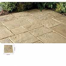 Kelkay Minster Paving Autumn Brown 450 x 450mm Bulk Pallet