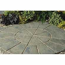 Minster Circle Paving Kit 1.8m in Rustic Sage