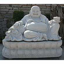 Granite Fat Happy Buddha Sculpture