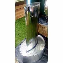 SPECIAL OFFER - Eclipse Mirror in Stainless Steel Base Water Feature
