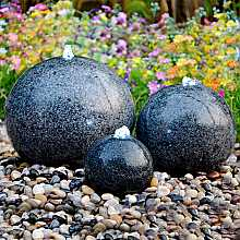 Granite Trio Water Feature With LED Lights