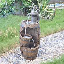 3 Fall Barrel with Pump Water Feature