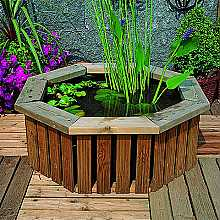 Medium Wooden Deck pond Garden Water Feature