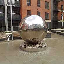 Aterno20 - 2000mm Stainless Steel Sphere Water Feature