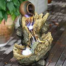 1 Pot on Driftwood Water Feature