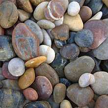 1 x 20kg Multi Coloured Polished River Pebbles 20mm - 40mm