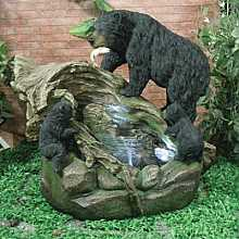 Bear Family Fishing Water feature