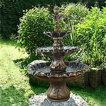 Henri Studios Classic Four Tier Finial Fountain in Relic Lava Water Feature