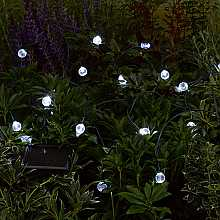 Crystal Ball Light String x 20 LEDs by Smart Solar