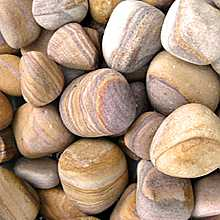 2 x 20kg Rainbow Sandstone Tumbled Pebbles 40mm - 60mm