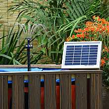 180LPH Solar Power Pond Pump with Float Battery Back-up and LED Light