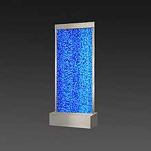 Large Steel Frame Floor Standing Bubble Wall with Colour Changing LED Lights