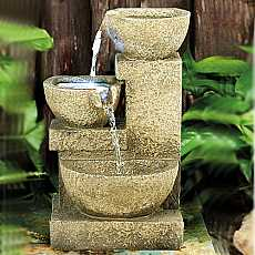 3 Bowl Sandstone Water Feature by Aqua Creations