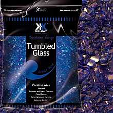 Kelkay Tumbled Glass Cobalt Blue
