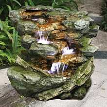 4 Fall Green Rock Water Feature