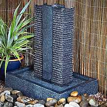 Black Granite Tower Garden Water Feature