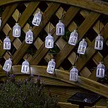 Moroccan Lantern Light String, 16 LEDs by Smart Solar