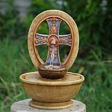 Celtic Cross Table Top Indoor Water Feature