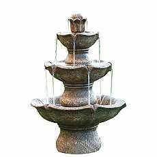 3 Tier Sandstone Fountain by Aqua Creations