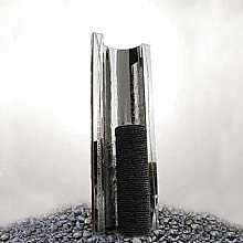 Serio Granito by Aqua Moda Granite & Steel Water Feature with LED Lights
