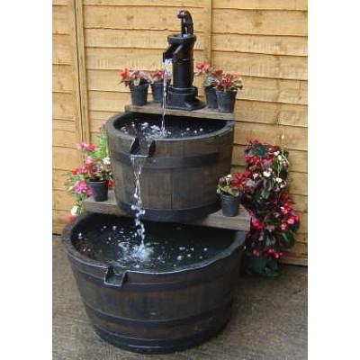 Aigen Wooden Barrel Small Water Features 2 Go