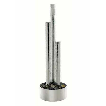 SPECIAL OFFER - 3 Column in Stainless Steel Base Water Feature