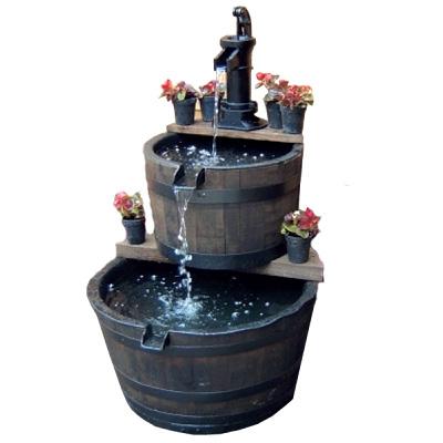 Aigen Wooden Barrel Large Water Features 2 Go