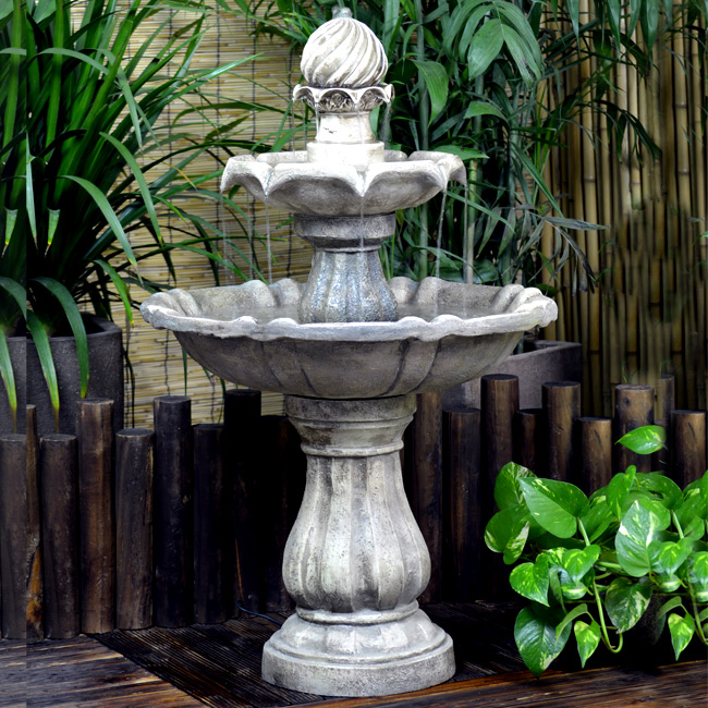 Solar Powered Classical Tier Water Feature